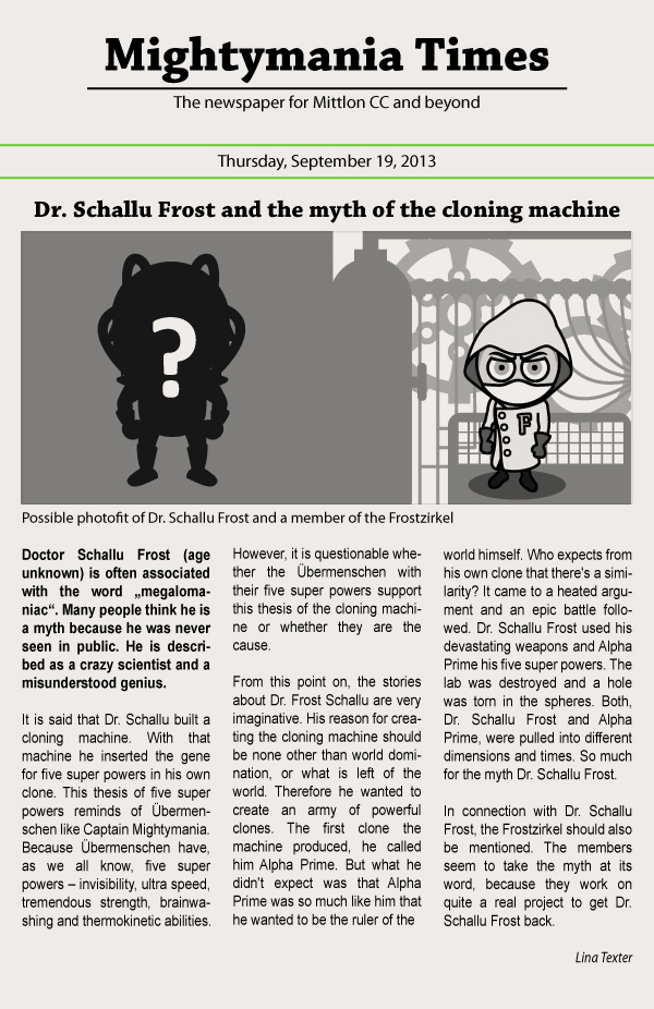 Dr. Schallu Frost and the myth of the cloning machine