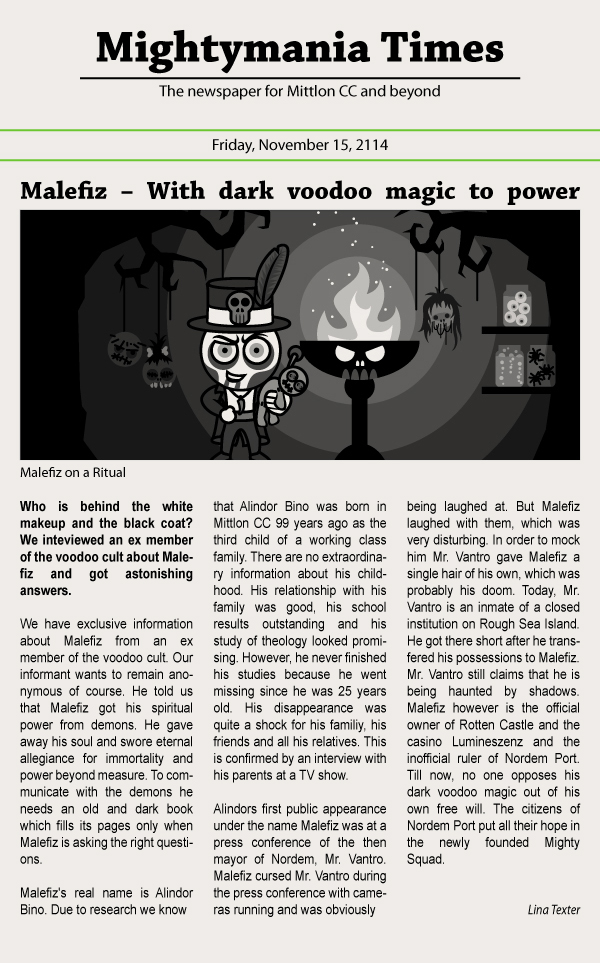 Malefiz – With dark voodoo magic to power