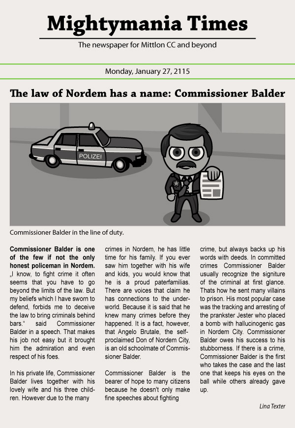 The law of Nordem has a name: Commissioner Balder