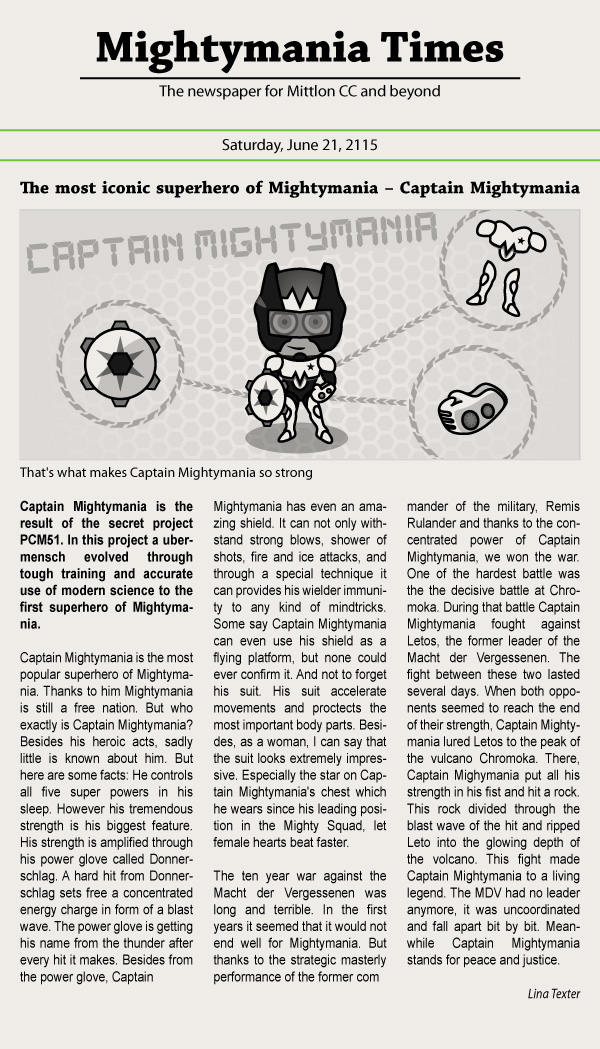 The most iconic superhero of Mightymania – Captain Mightymania